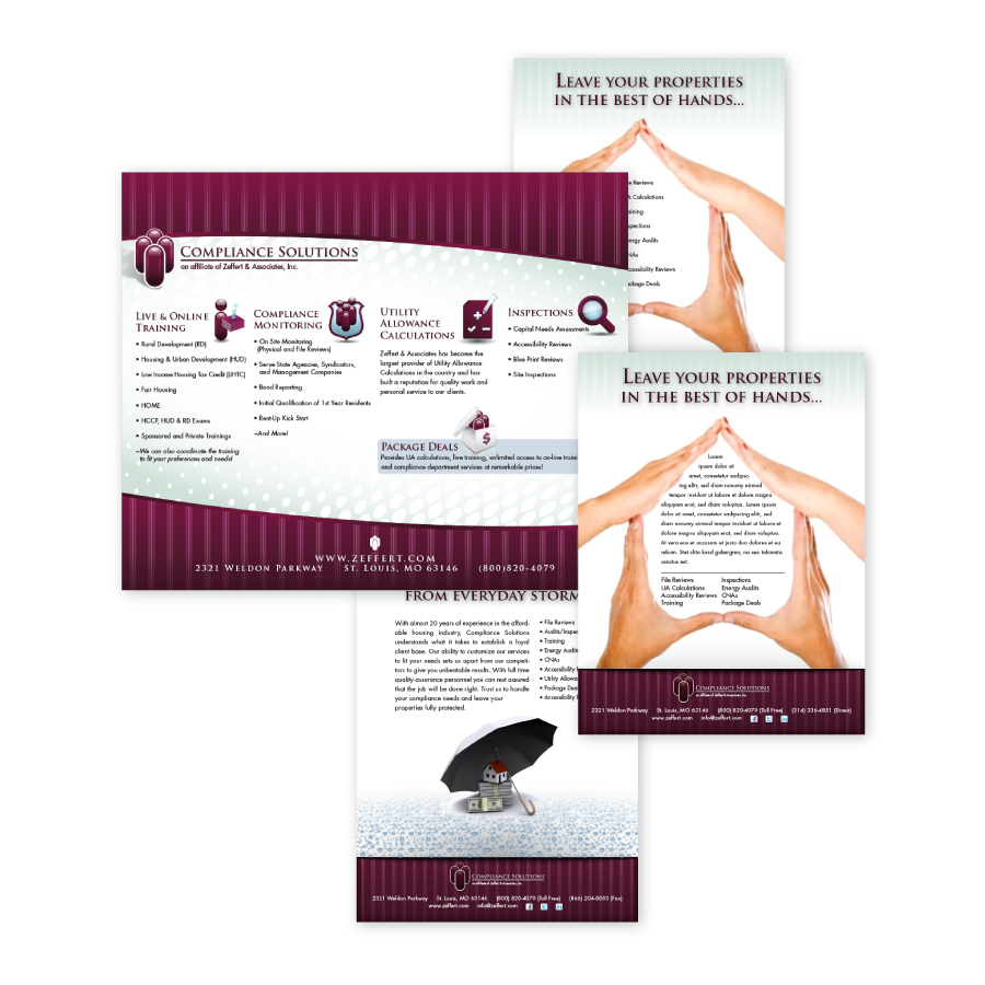 // Compliance Solutions Ads, Brochure, & Large Display